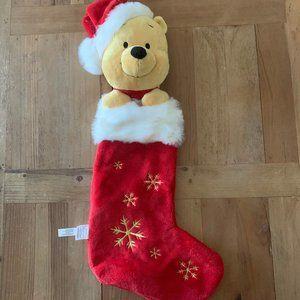 Winnie The Pooh Christmas Stocking 3D Plush Head